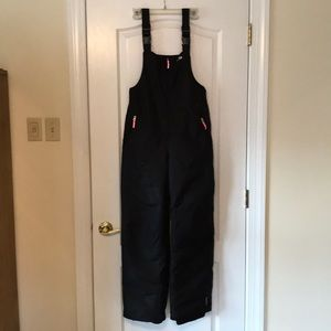 Black Snow Bib Pants